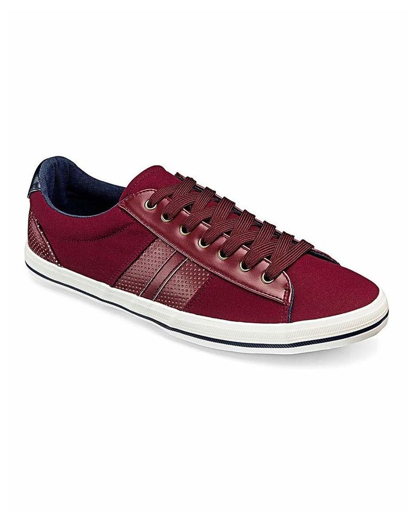Burgundy Canvas Pump