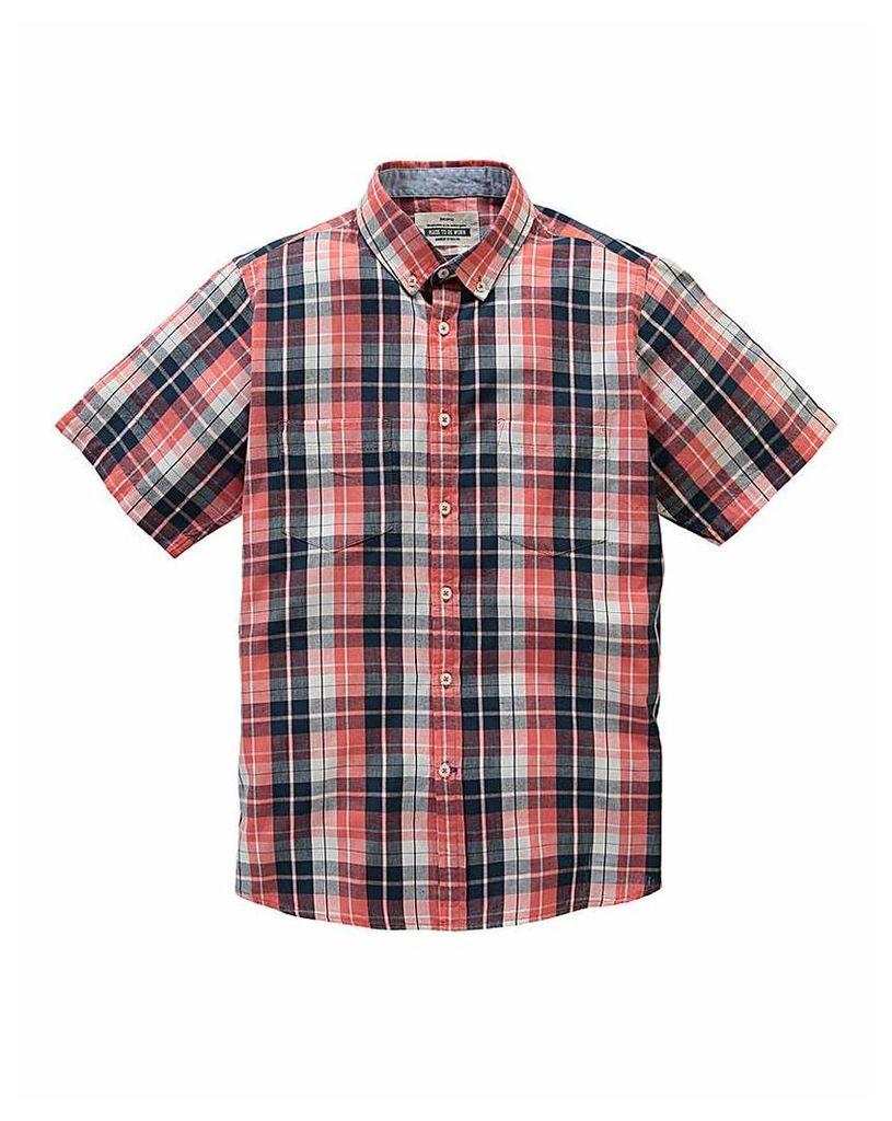Jacamo Destin S/S Check Shirt Regular