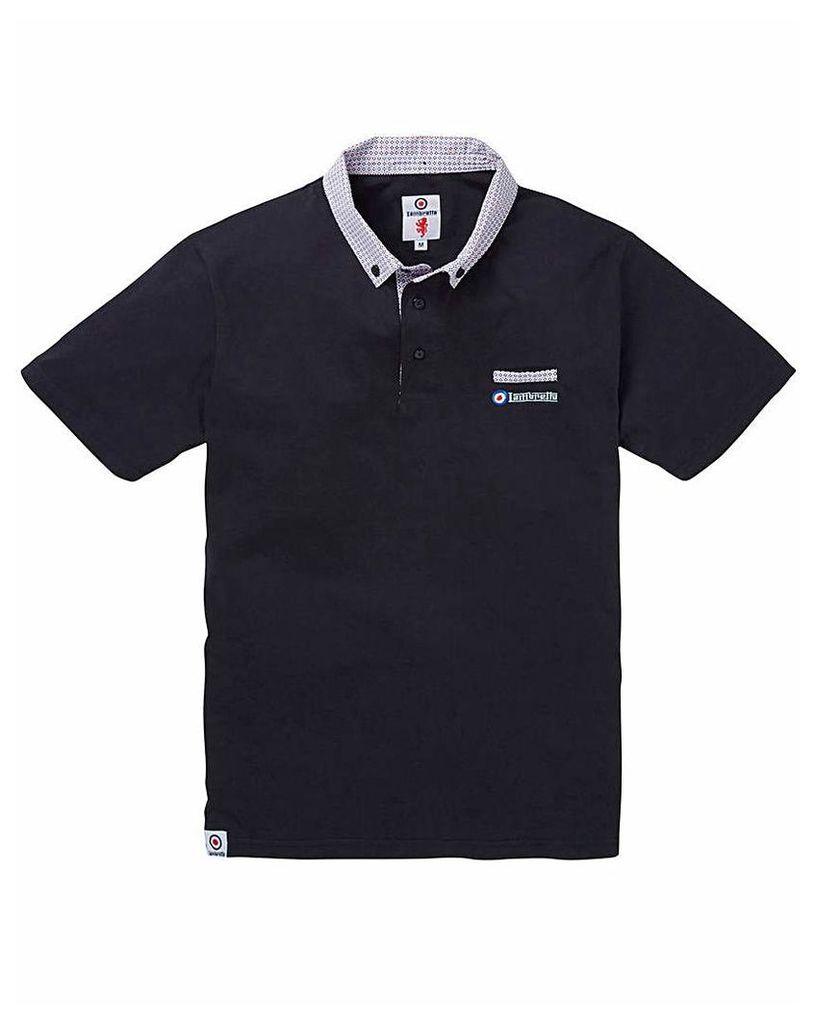 Lambretta Printed Collar Polo Shirt Reg