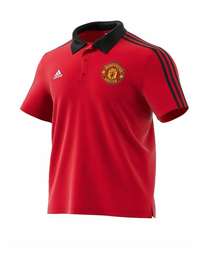 Manchester United Replica 3 Stripe Polo