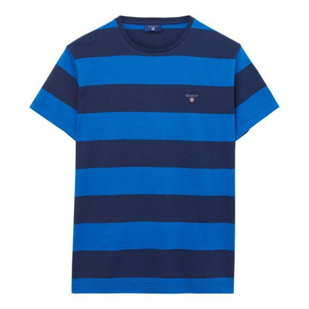 Short-sleeved Barstriped T-shirt - Nautical Blue