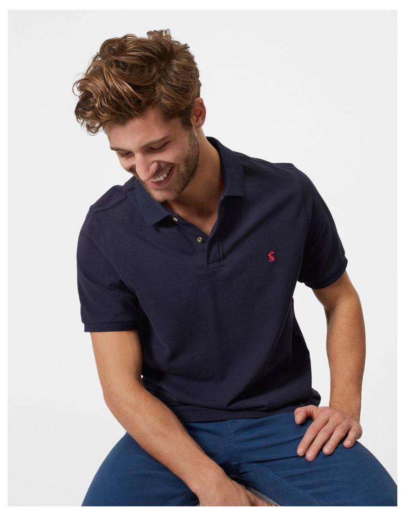 French Navy Woody classic fit Polo Shirt  Size M | Joules UK