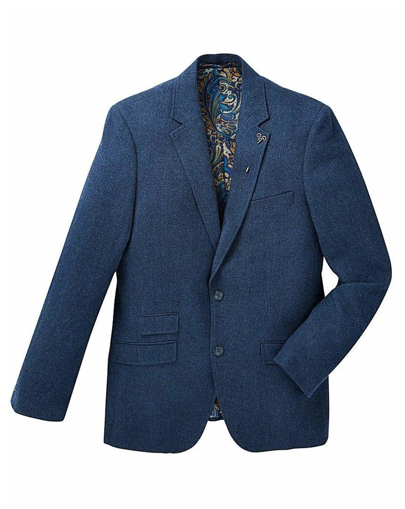 Black Label Herringbone Tweed Blazer Lon