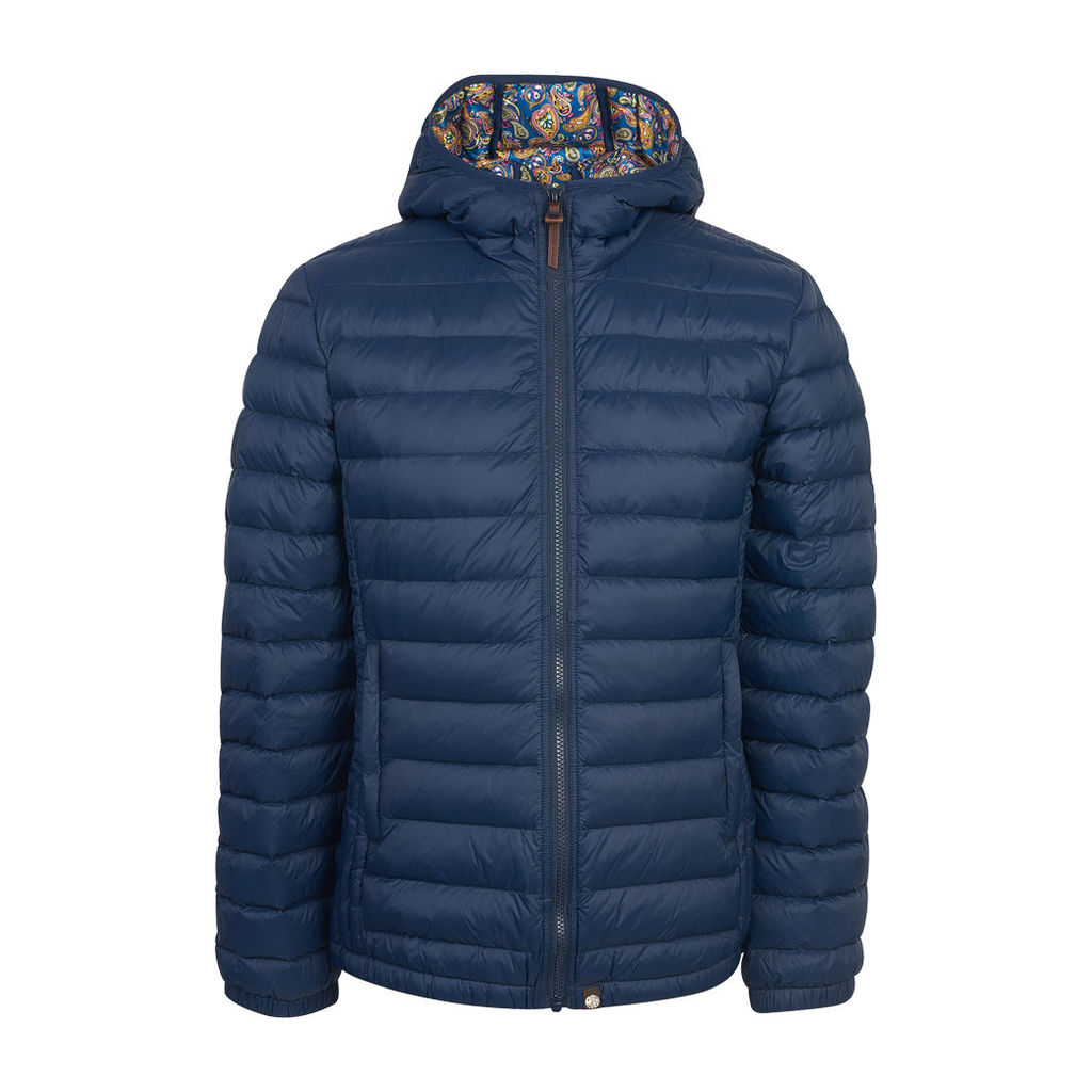 Pretty Green Men's Pembrook Quilted Jacket - Navy - S