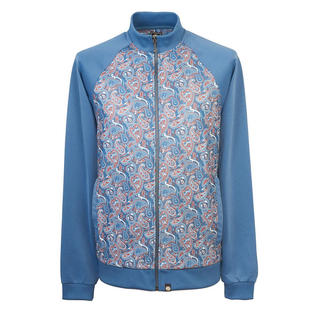 Pretty Green Men's Camley Paisley Track Top - Blue - S