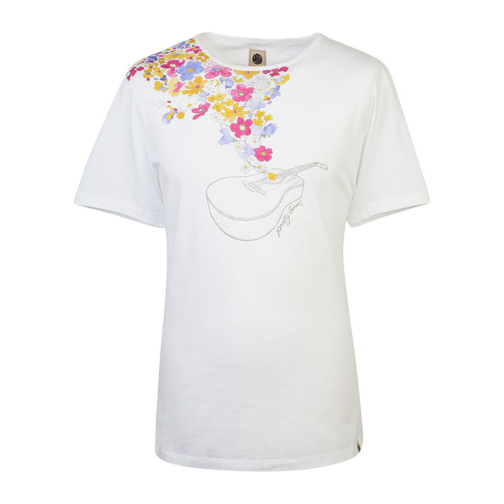 Pretty Green Men's Acoustic T-Shirt - White - S