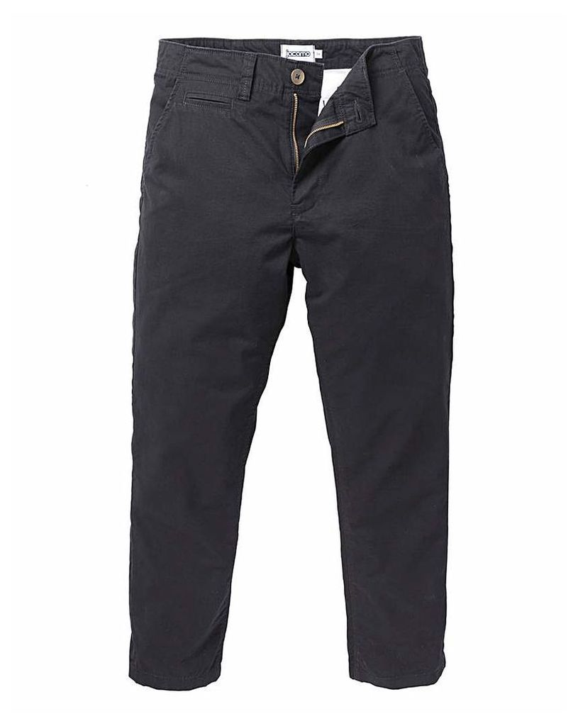 Jacamo Black Stretch Tapered Chino 31in