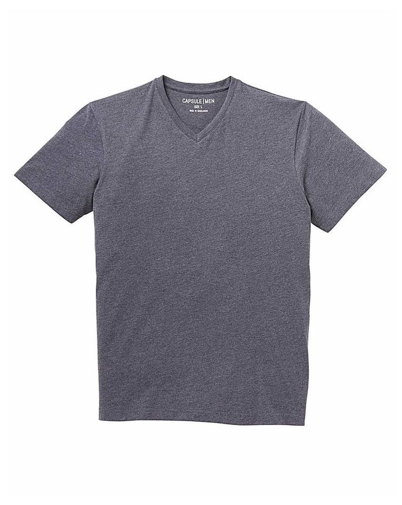 Capsule V-Neck Charcoal T-shirt Regular
