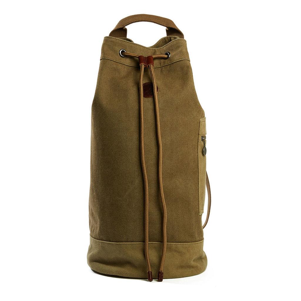 Pretty Green Men's Canvas Duffle Bag - Khaki - One Size