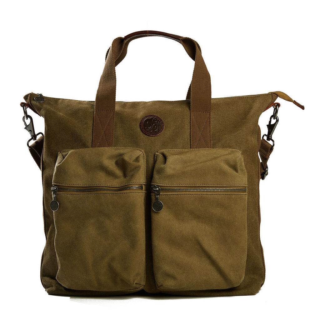 Pretty Green Men's Canvas Tote Bag - Khaki - One Size
