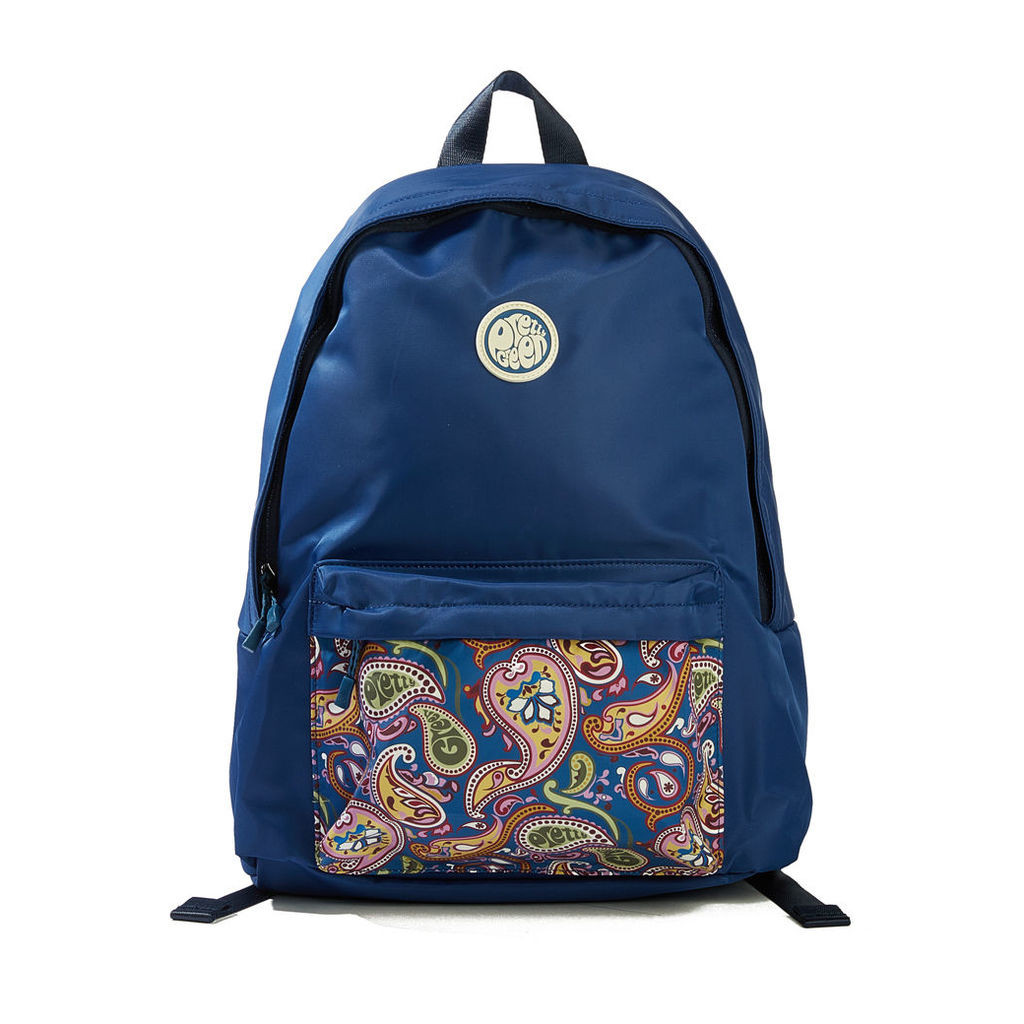 Pretty Green Men's Nylon Backpack With Paisley Pocket - Vintage Paisley - One Size