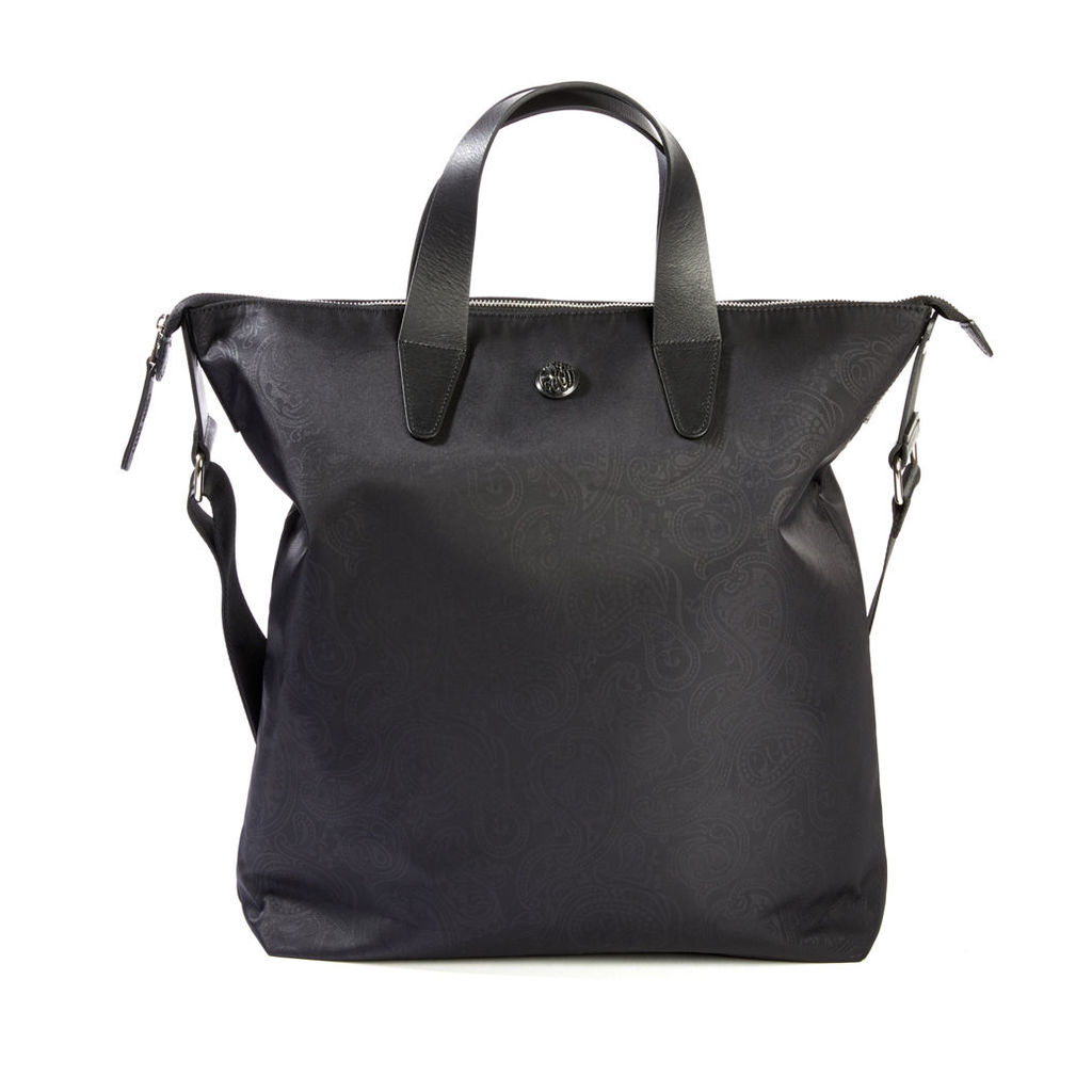 Pretty Green Men's Paisley Jaquard Tote Bag - Black - One Size