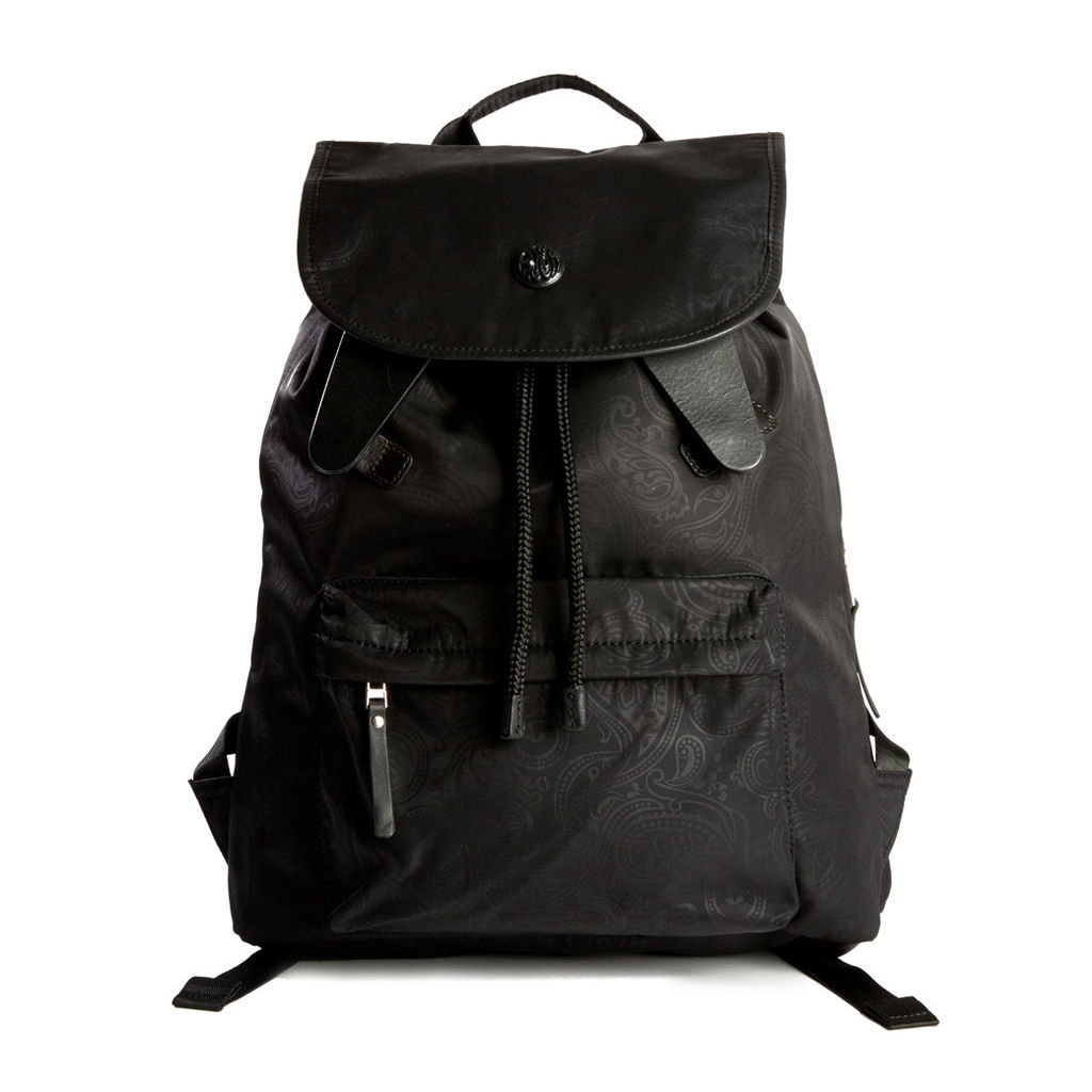 Pretty Green Men's Paisley Jaquard Backpack - Black - One Size
