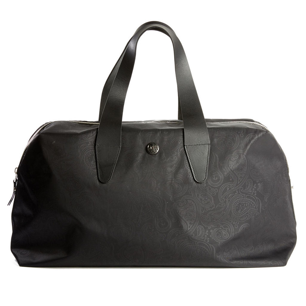 Pretty Green Men's Paisley Jaquard Holdall - Black - One Size