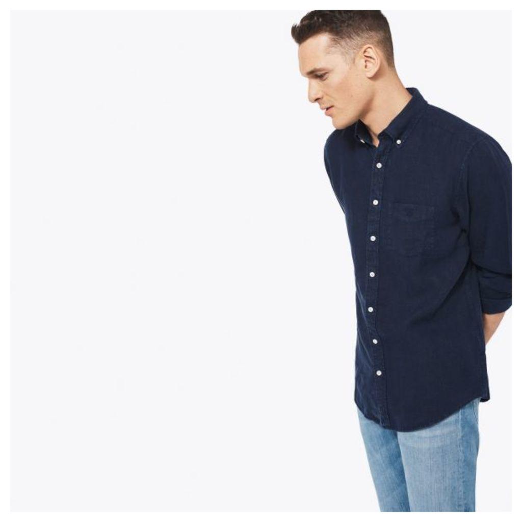 The Linen Shirt - Thunder Blue