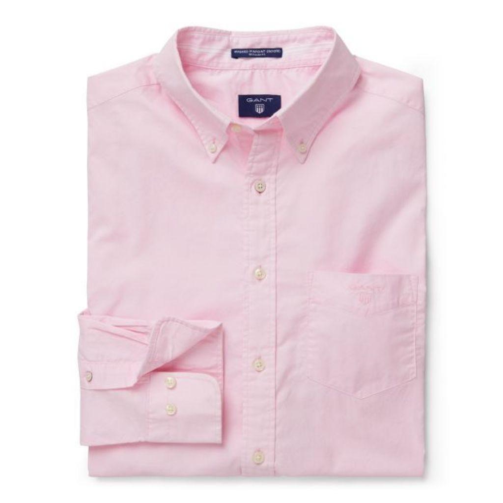 Washed Pinpoint Oxford Shirt - California Pink