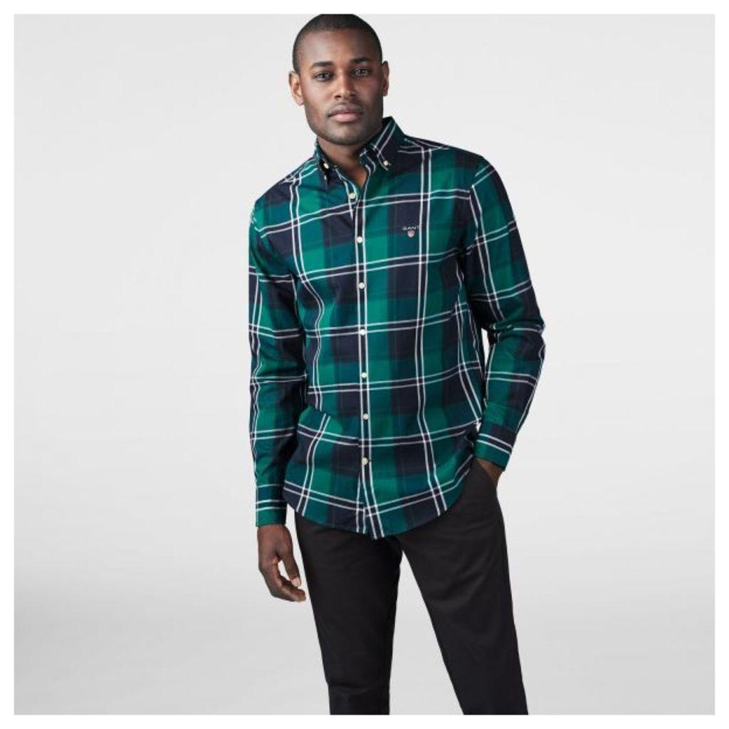 Tech Prep ™ Twill Jaspé Fall Check Shirt - Ivy Green