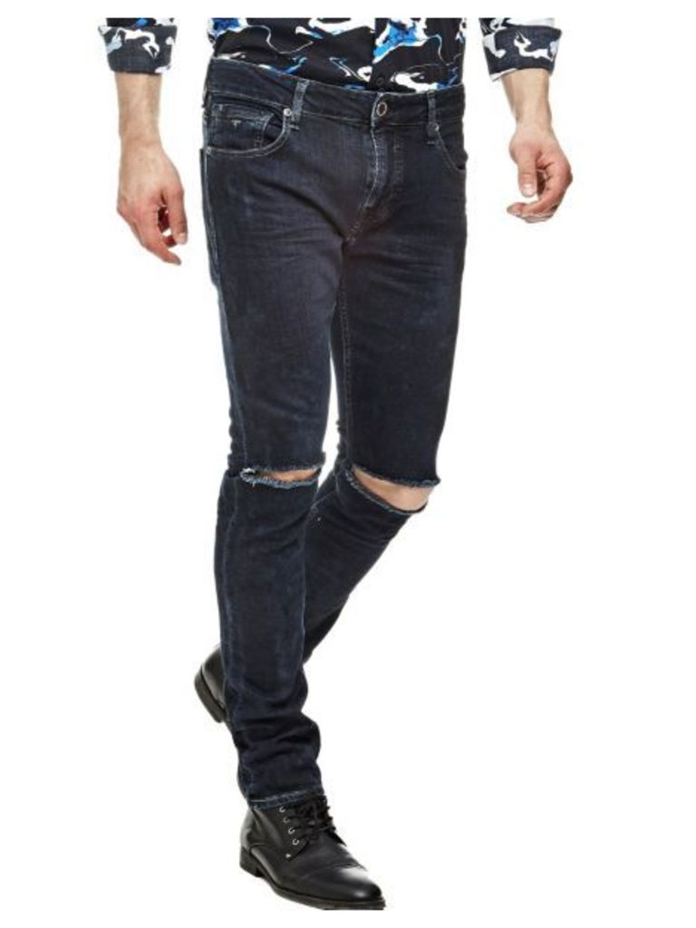 Guess Superskinny Jeans With Tears