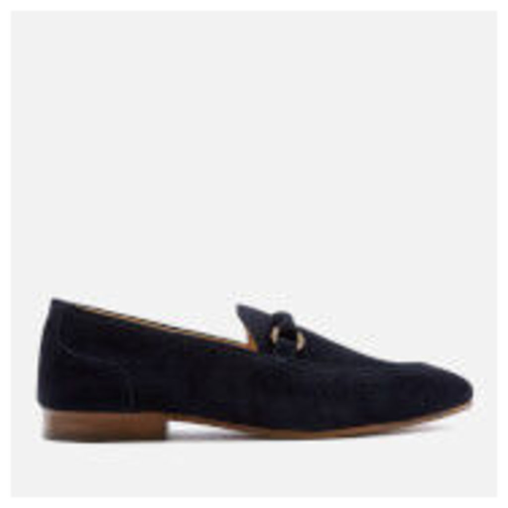 Hudson London Men's Renzo Suede Loafers - Navy - UK 11