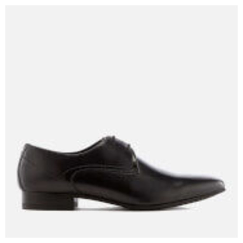 Hudson London Men's Leto Leather Derby Shoes - Black - UK 11