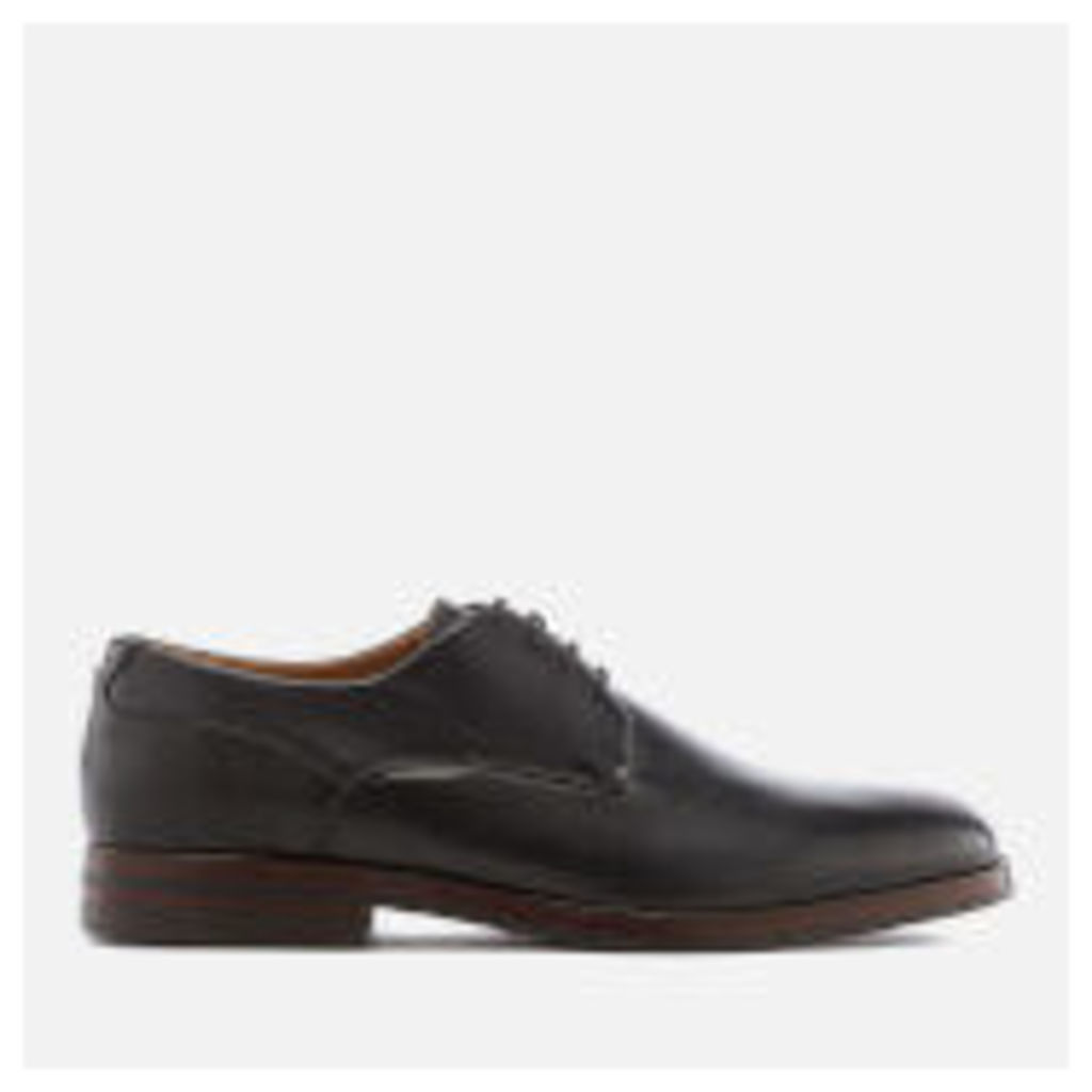 Hudson London Men's Enrico Leather Derby Shoes - Black - UK 11