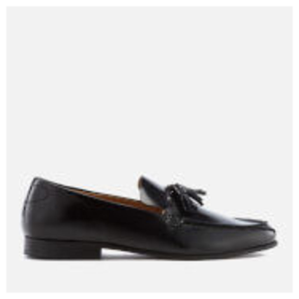 Hudson London Men's Bernini Leather Tassel Loafers - Black - UK 11