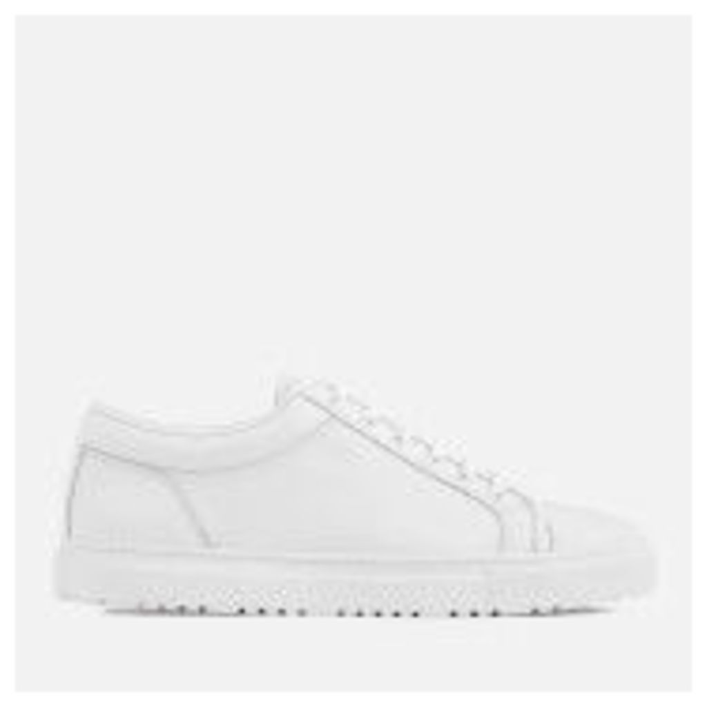 ETQ. Men's Low 1 Rugged Full Grain Leather Trainers - White - UK 11