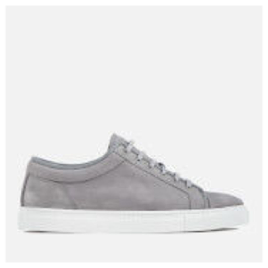 ETQ. Men's Low 1 Nubuck Trainers - Alloy - UK 11
