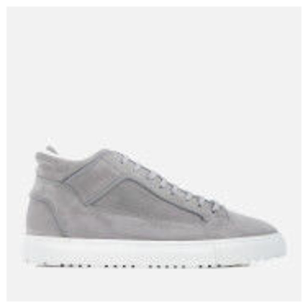 ETQ. Men's Mid 2 Nubuck Trainers - Alloy - UK 11