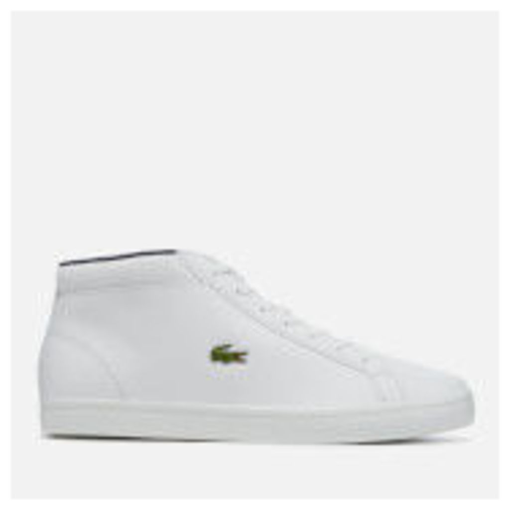 Lacoste Men's Straightset SP Chukka 117 1 Leather Mid-Top Trainers - White - UK 8