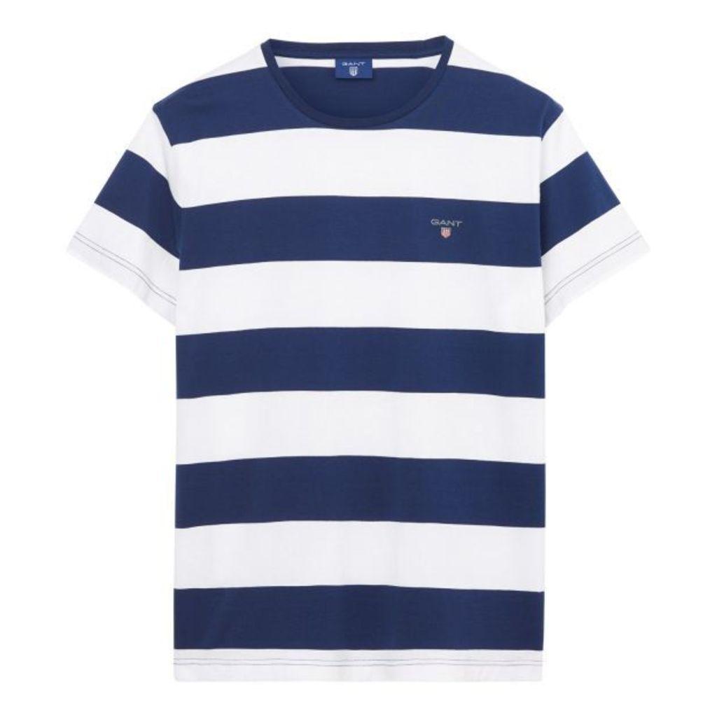 Short-sleeved Barstriped T-shirt - White