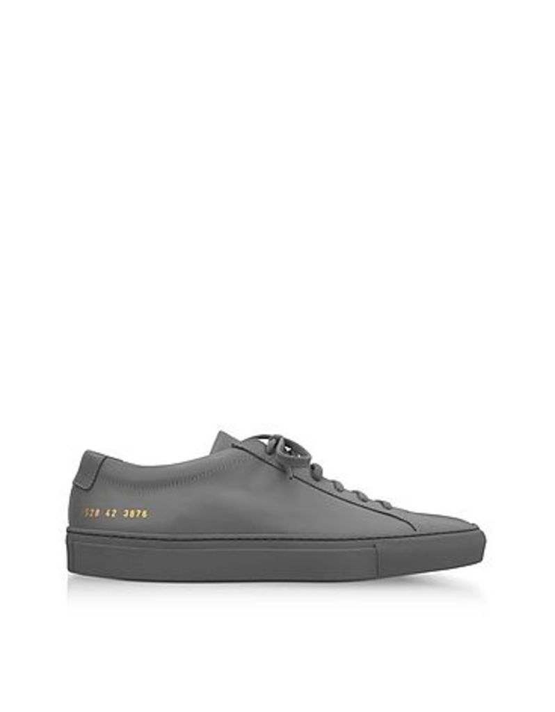 Common Projects - Medium Grey Leather Original Achilles Low Men's Sneakers