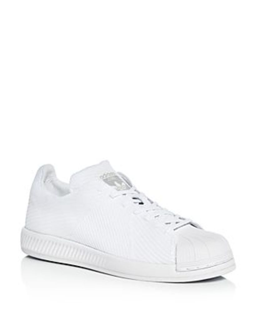 Adidas Men's Superstar Bounce Primeknit Lace Up Sneakers