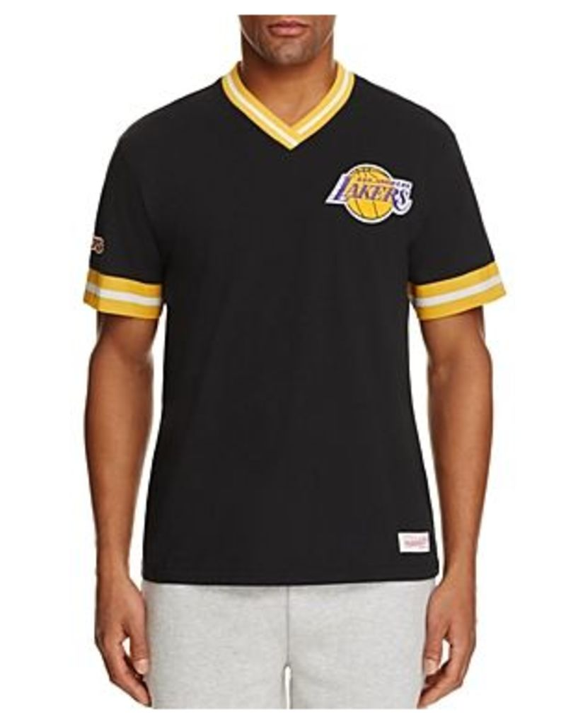 Mitchell & Ness Los Angeles Lakers Vintage Nba V-Neck Tee