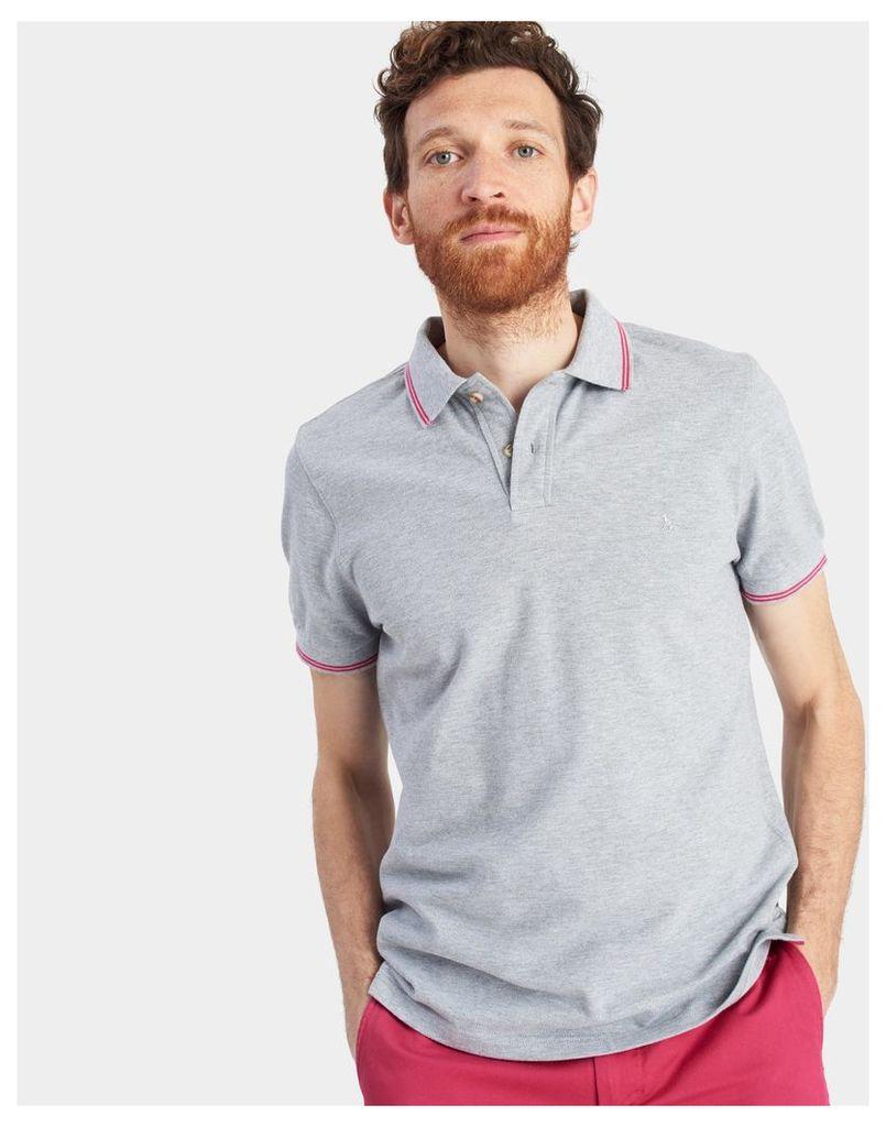 Grey Marl Kielder Polo Shirt  Size L | Joules UK
