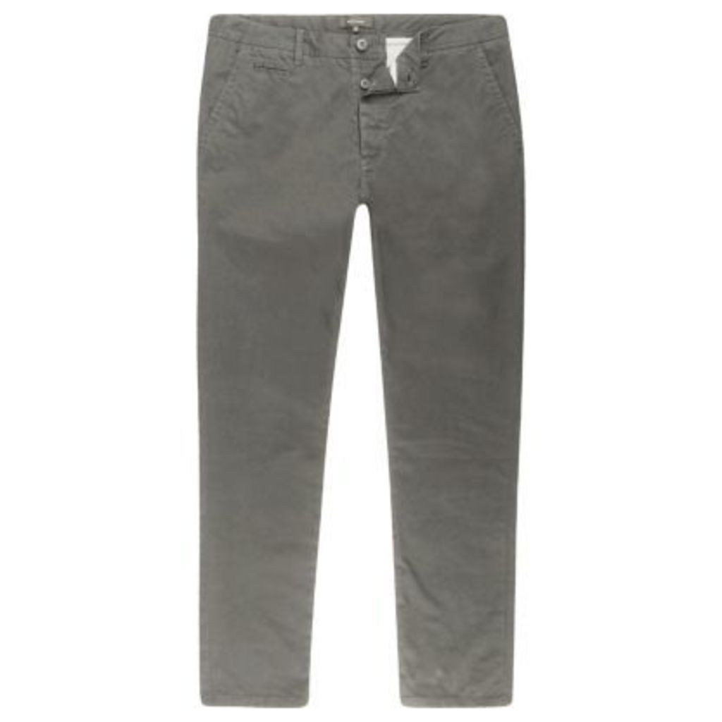 River Island Mens Grey super skinny fit chino trousers