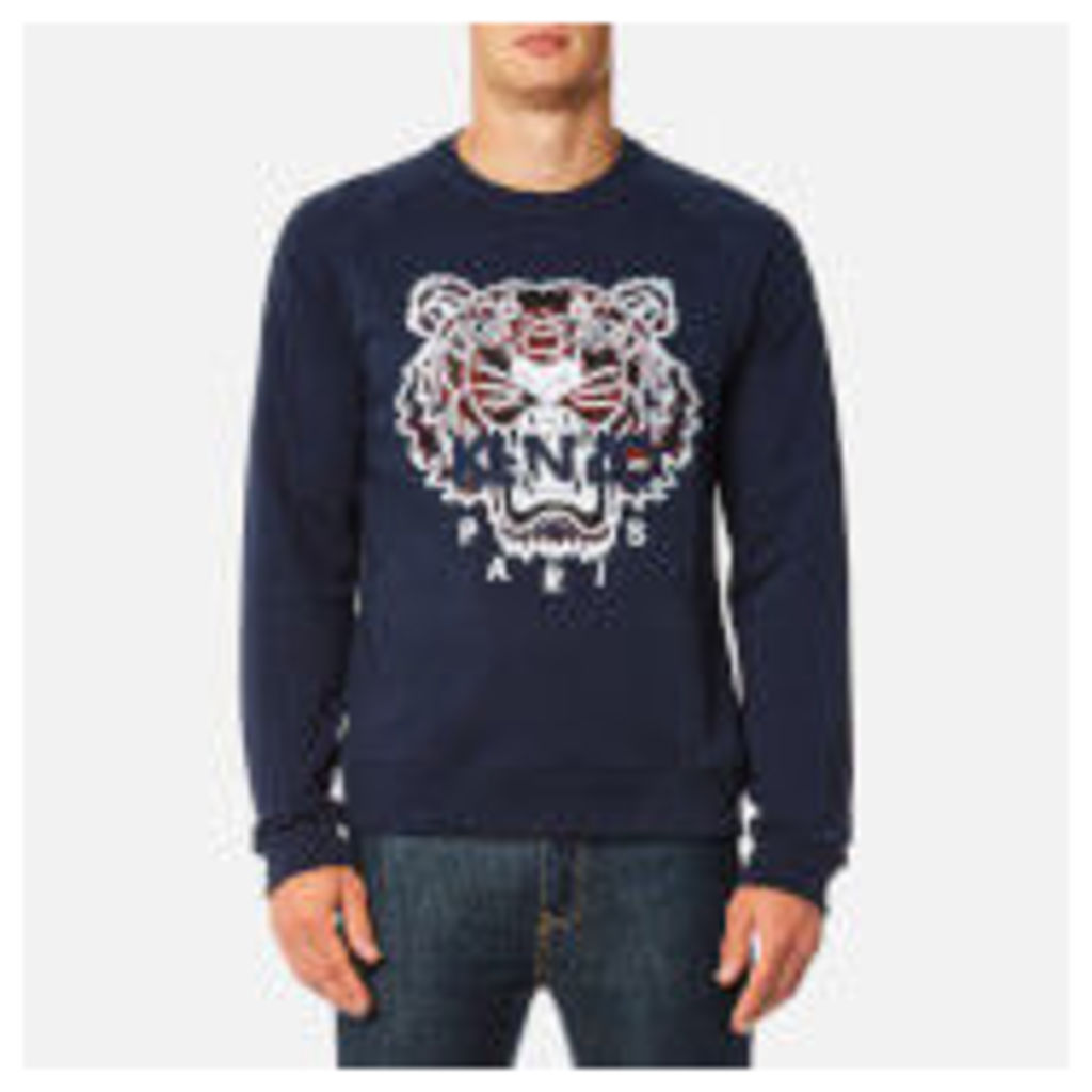 KENZO Men's Check Tiger Logo Sweatshirt - Ink - L