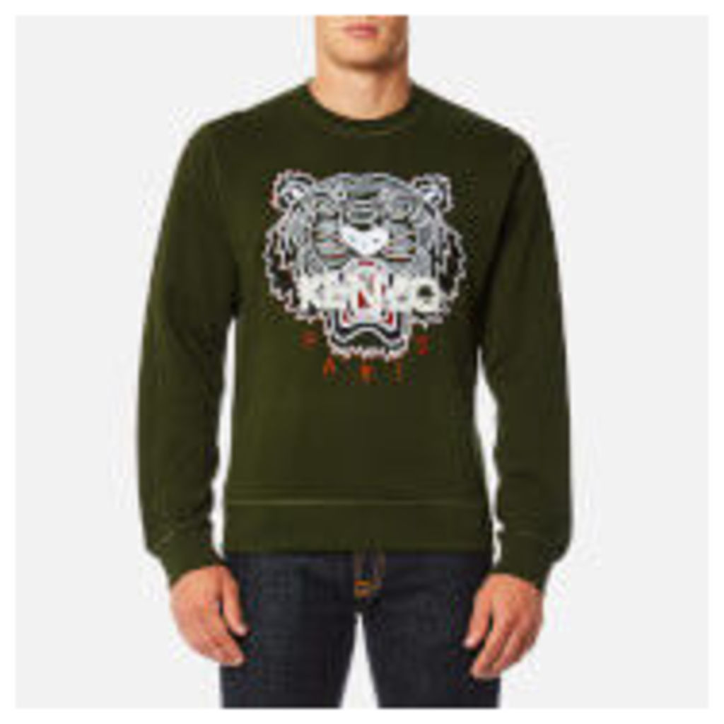 KENZO Men's Classic Icon Sweatshirt - Dark Khaki - S