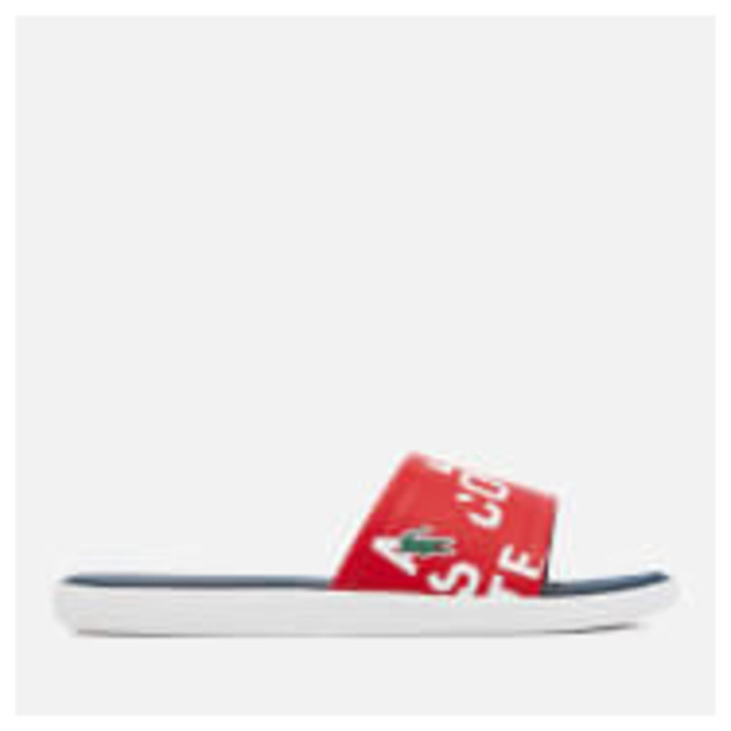 Lacoste Men's L.30 Slide 117 2 Slide Sandals - Red - UK 10
