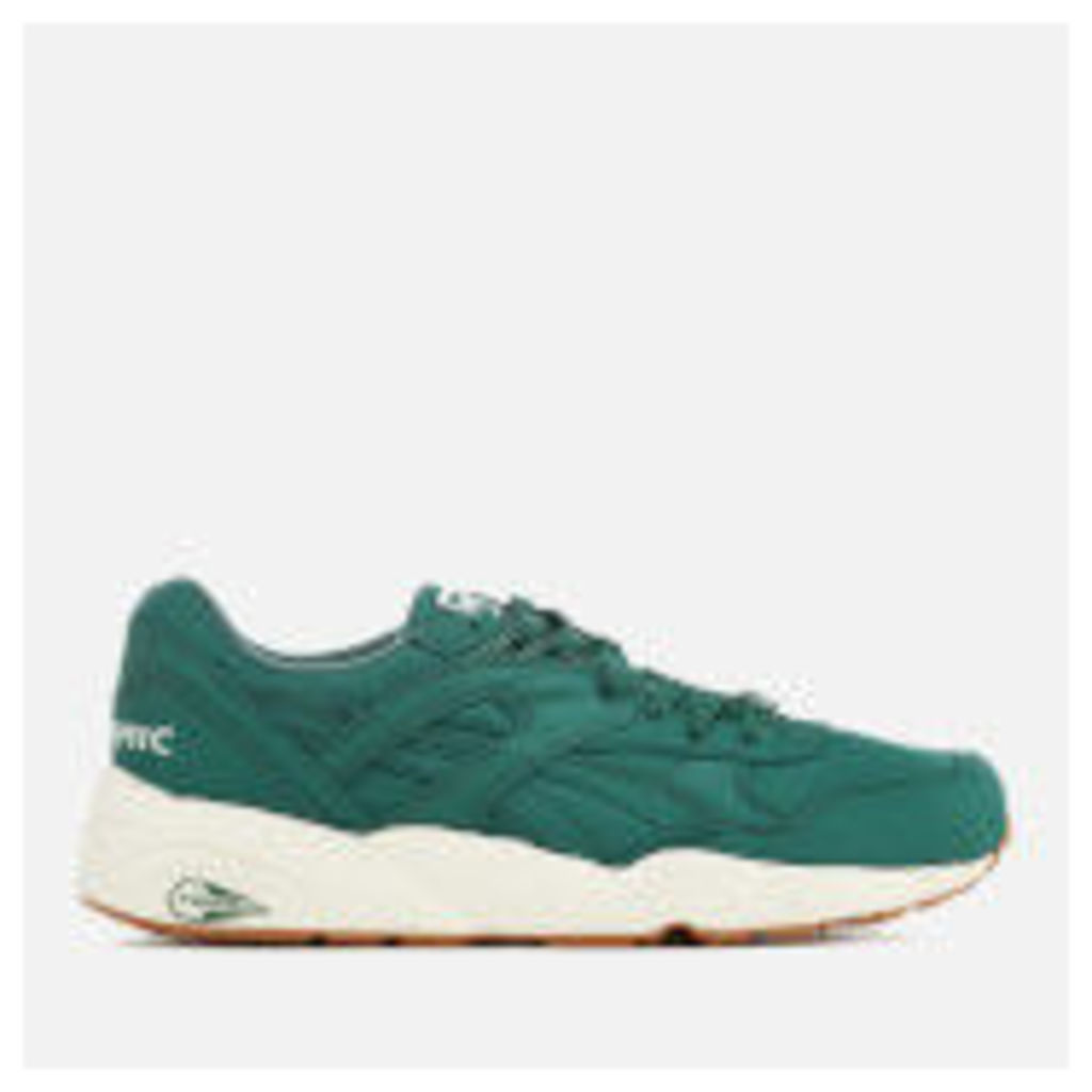 Puma Men's R698 Nylon Trainers - Green/White - UK 8