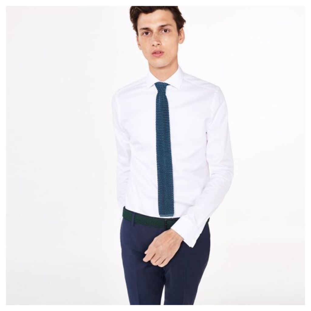 Luxe Twill Fitted Shirt - White