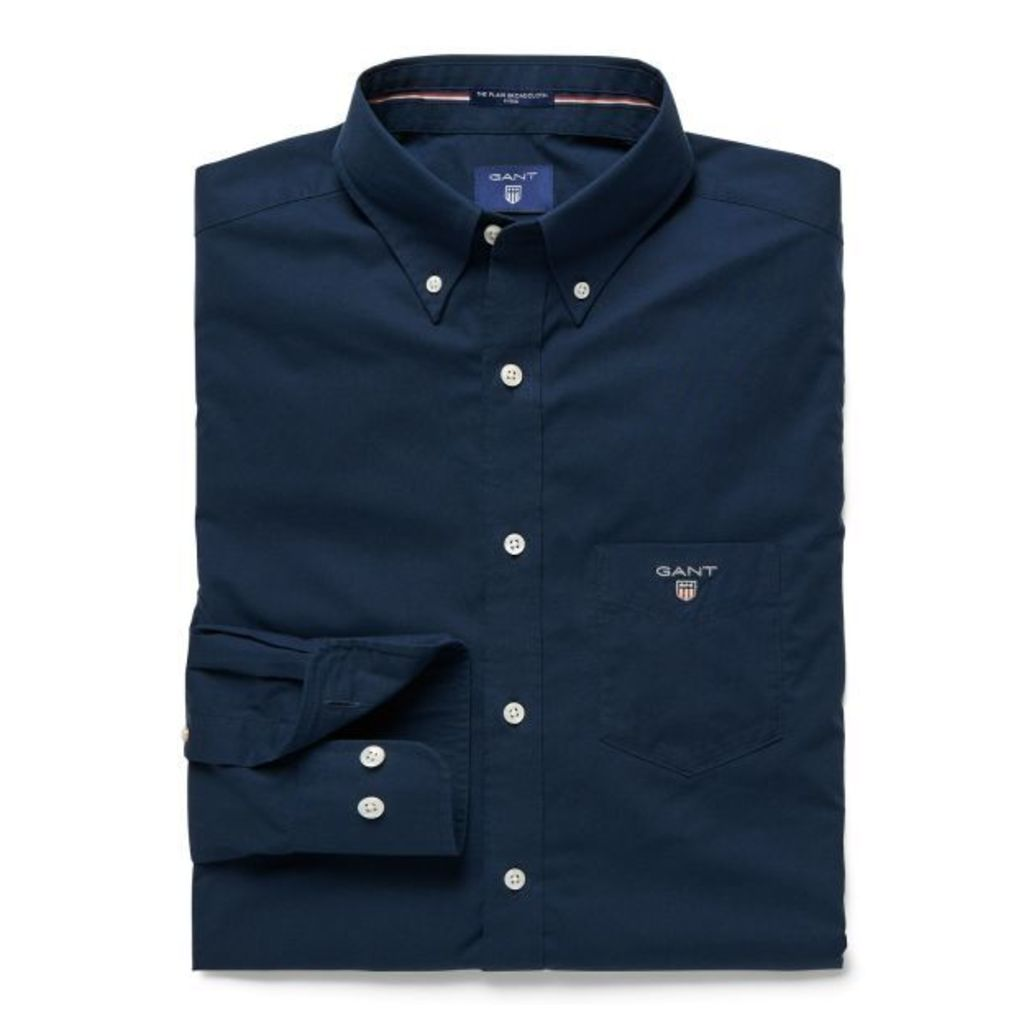 Plain Broadcloth Shirt - Storm Blue