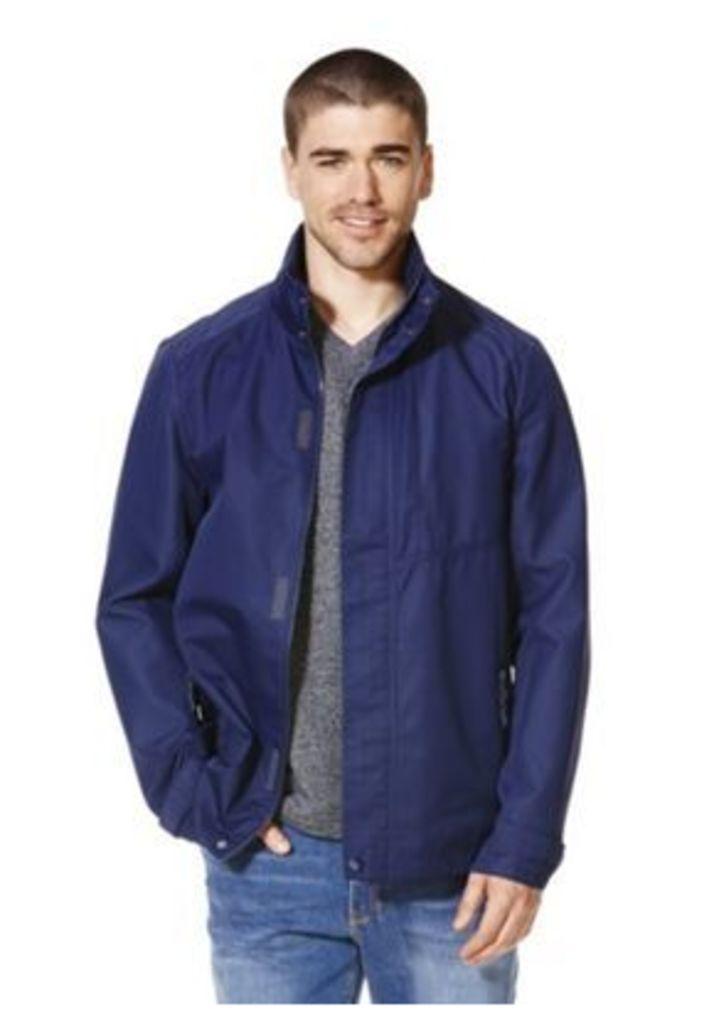 F&F Shower Resistant Ripstop Jacket, Men's, Size: Medium
