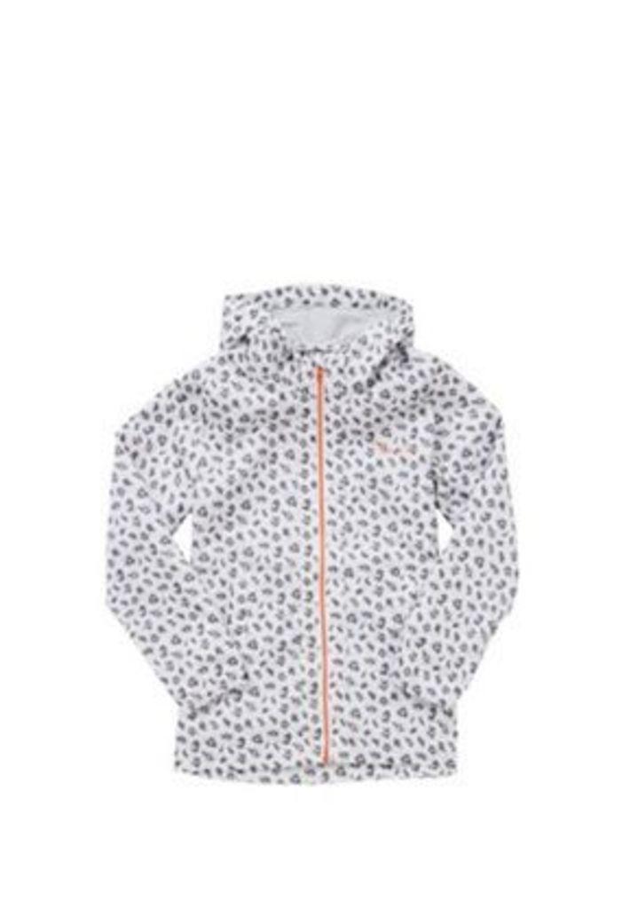 Dare2b Trepid Leopard Print Showerproof Jacket, Girl's, Size: 14 yrs