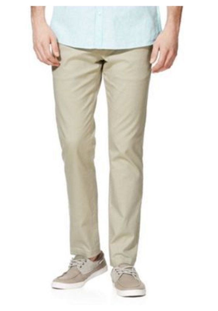 F&F Slim Leg Oxford Chinos, Men's, Size: 40 Waist 32 Leg