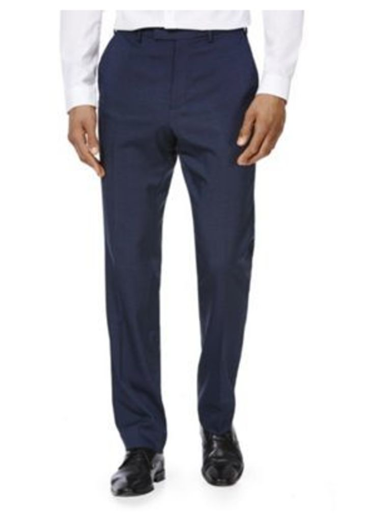 F&F Twill Flexi Waist Regular Fit Trousers, Men's, Size: 30 Waist 29 Leg