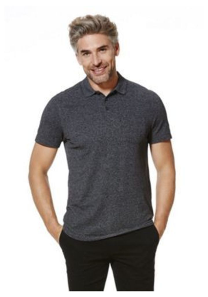 F&F Marl Polo Shirt, Men's, Size: 4XL