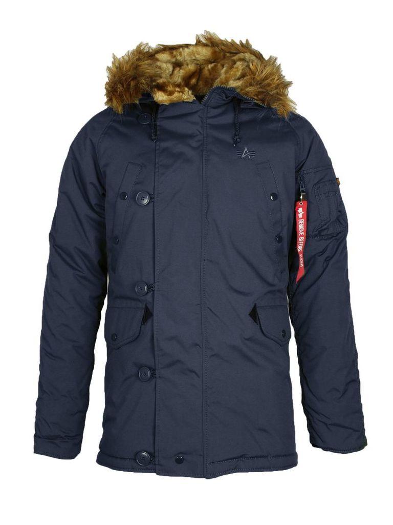 Men's Alpha Industries N3B VF59 Coat, Blue