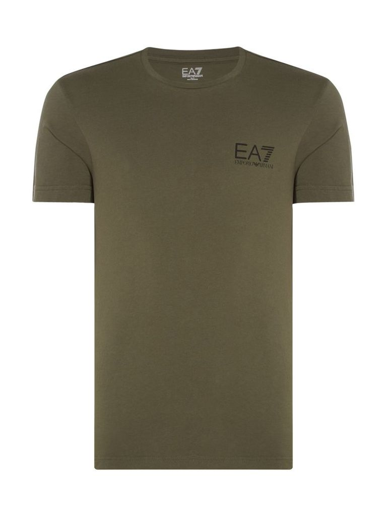 Men's EA7 Core ID Crew Neck T-shirt, Khaki