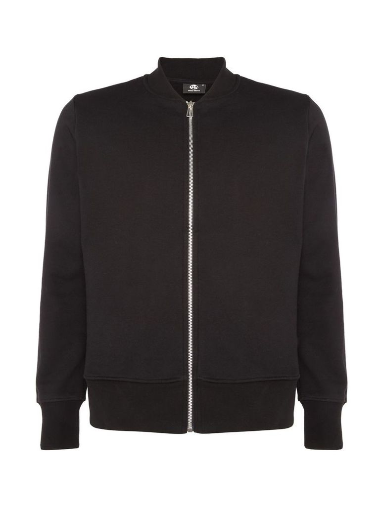 Men's PS By Paul Smith Zip-up sweat bomber jacket, Black